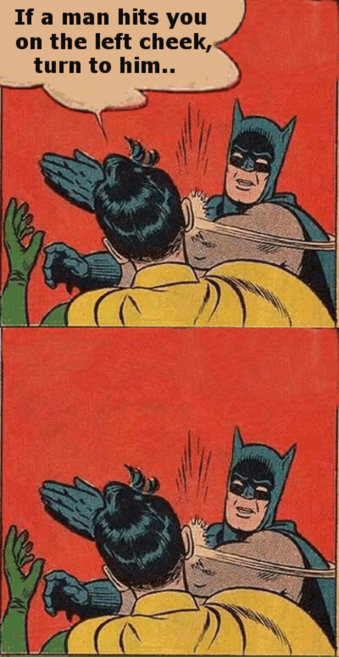 Batman robin slap