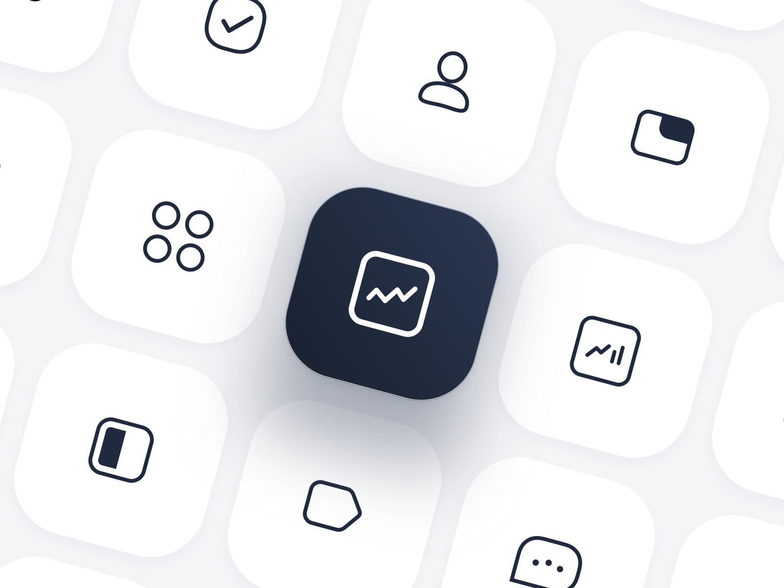 ⚫️ Icon Set (With images) Icon set design, Icon set