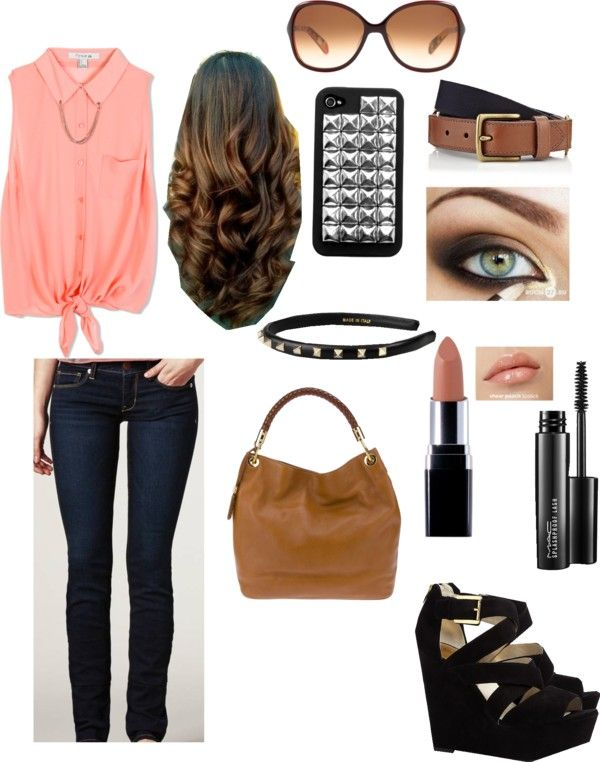 """""""day at the mall"""" by angelbeartori ❤ liked on Polyvore"""