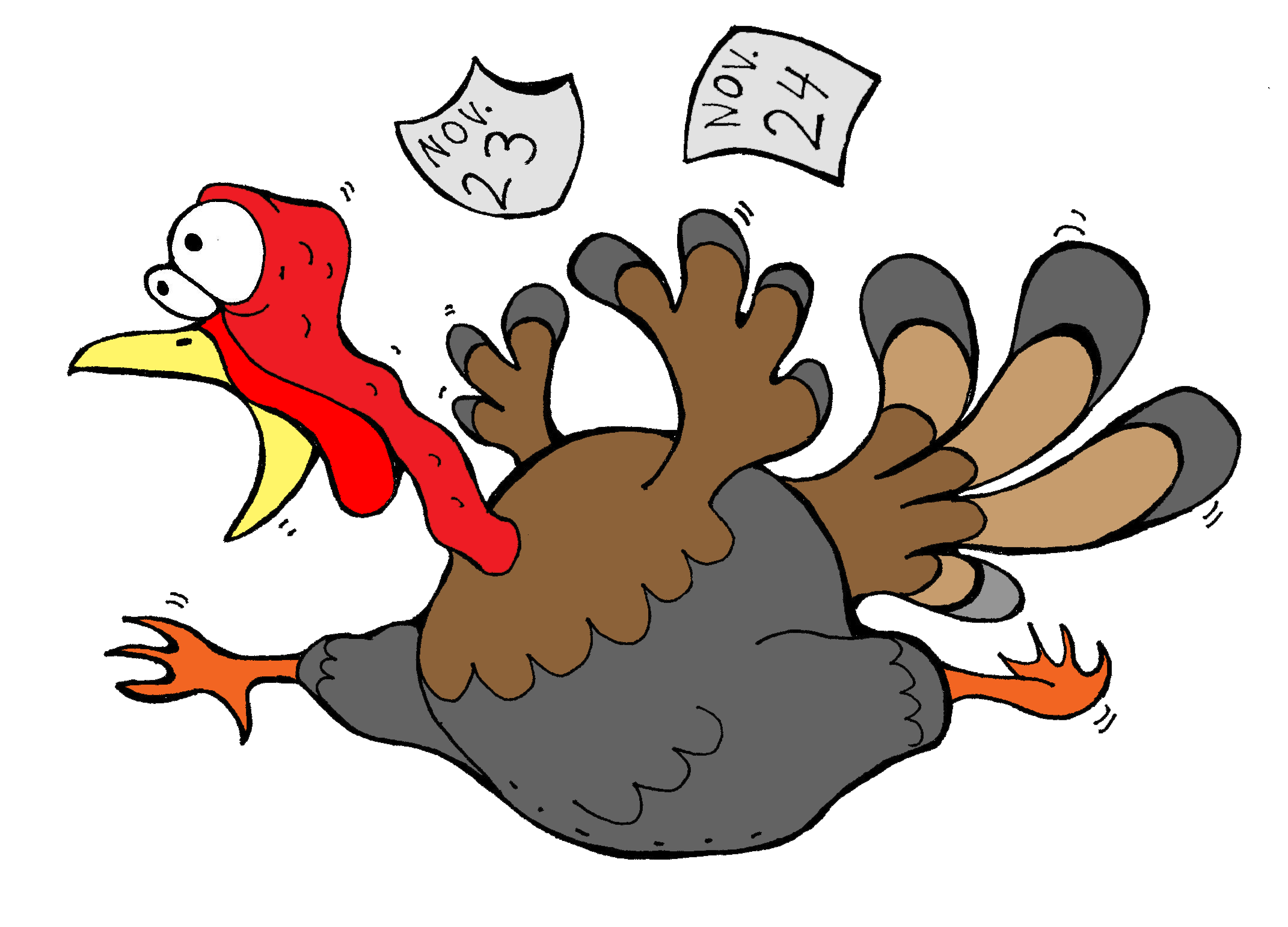 scared thanksgiving turkey clipart clip art for teachers rh pinterest com Running Turkey Silly Turkey Clip Art