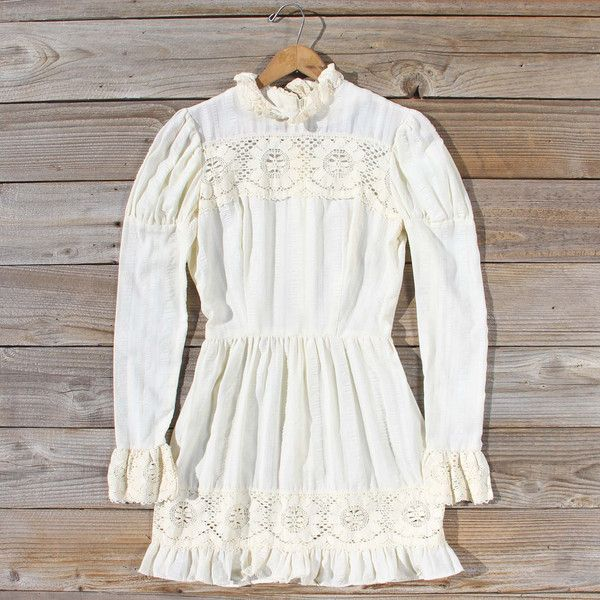 Vintage 70's Vagabond Lace Dress, Sweet Bohemian Wedding & Bridesmaid Dresses from Spool 72. | Spool No.72