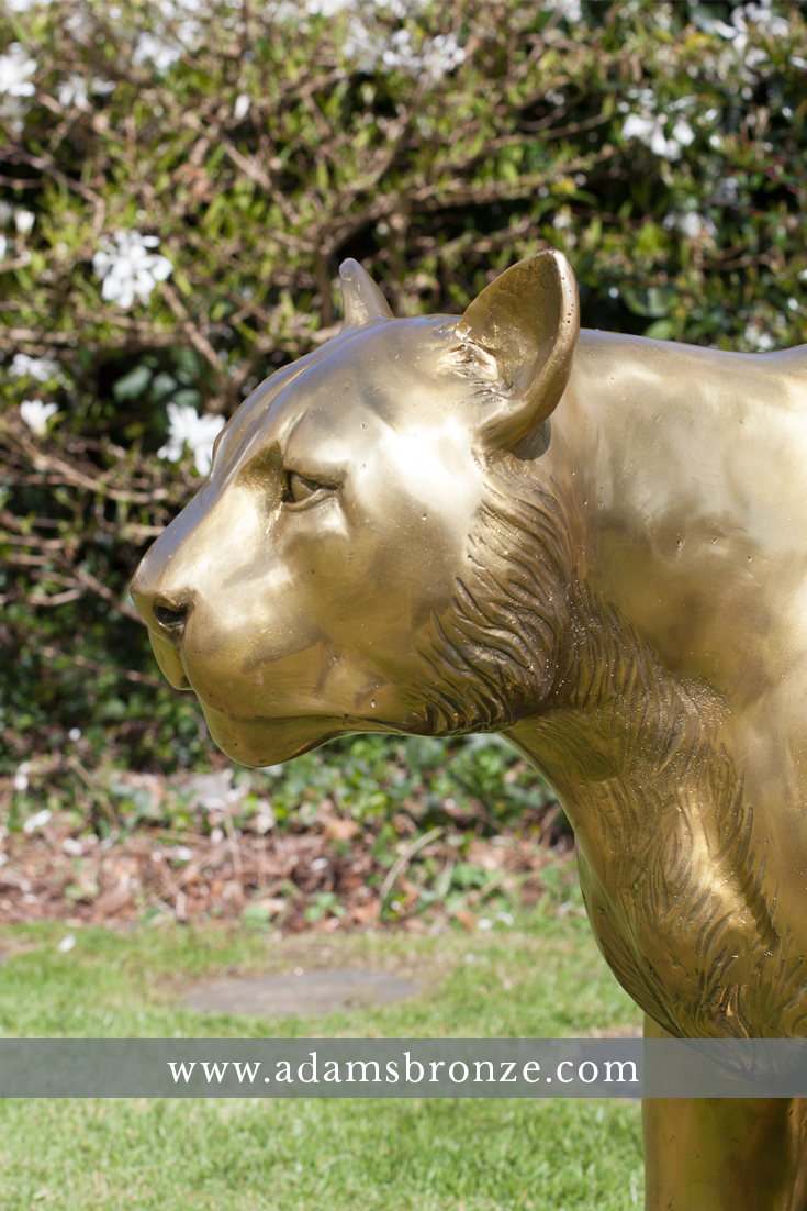 Etonnant Cougar, Lion And Big Cat Statues Made In Bronze. Rustproof, Lifelike,  Quality
