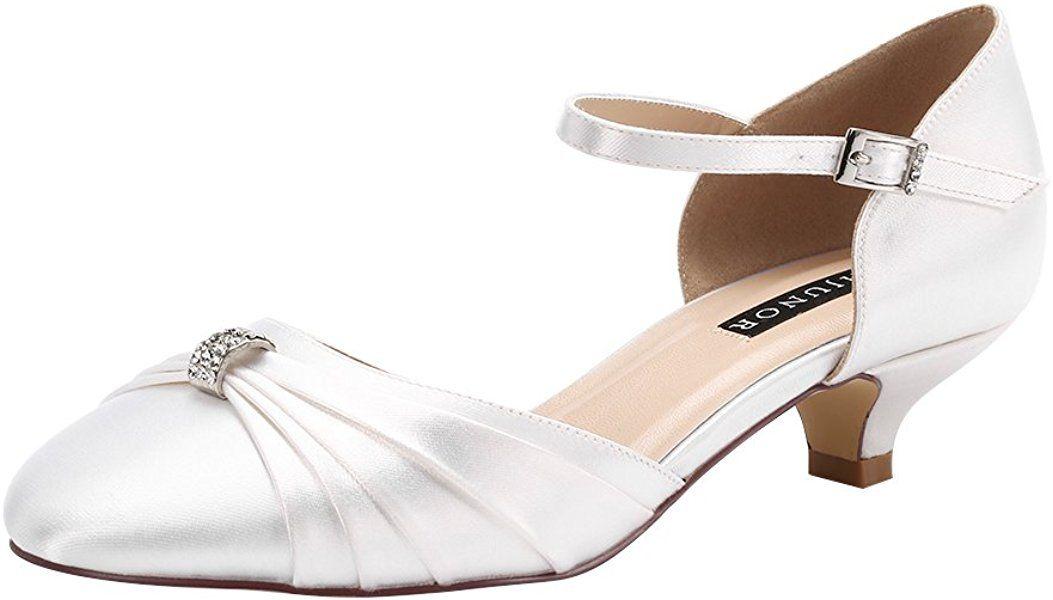 Erijunor e0713b women comfort low kitten heel