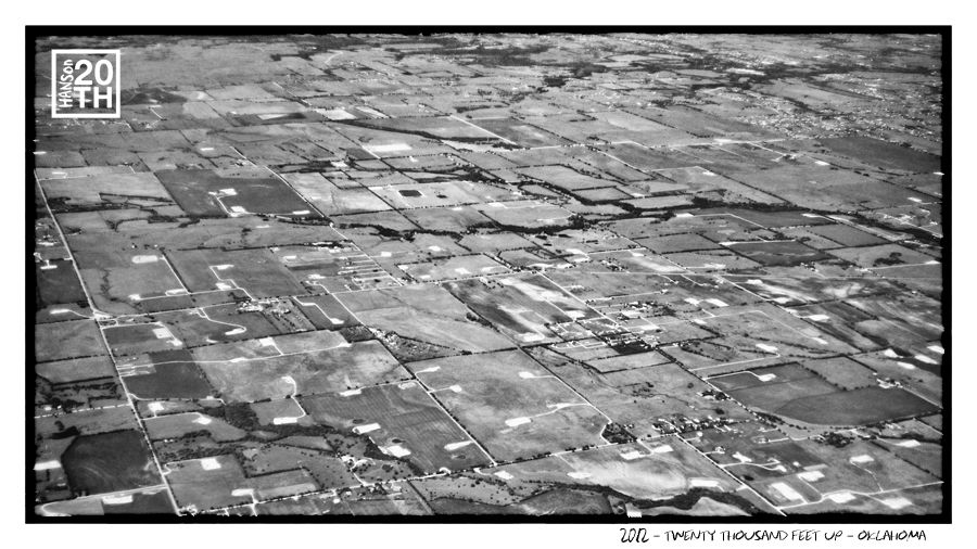 Photo 55 of 365  2012 - Twenty Thousand Feet Up - Oklahoma    We have had the amazing chance to see the world, not only from the ground but many skylines and topographies from above. What is the most interesting place you have traveled to, and what makes you love where you're from?    #Hanson #Hanson20th