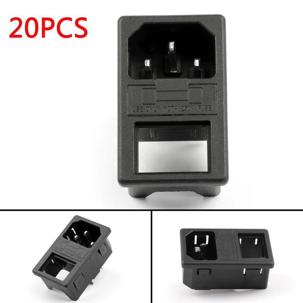 20pcs Iec320 C14 3 Pin Male Power Socket 10a 250v For Boat Diy Ac 001b3 Ebay Link Diy Ac Ebay Plastic Case
