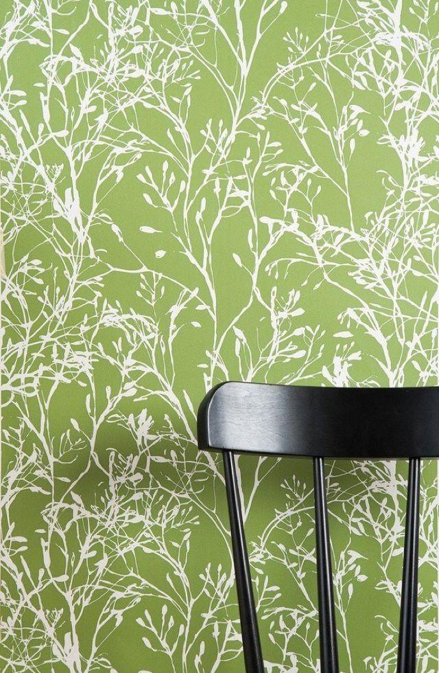 ferm living shop wildflower wallpaper green 110 housey house pinterest papier peint. Black Bedroom Furniture Sets. Home Design Ideas
