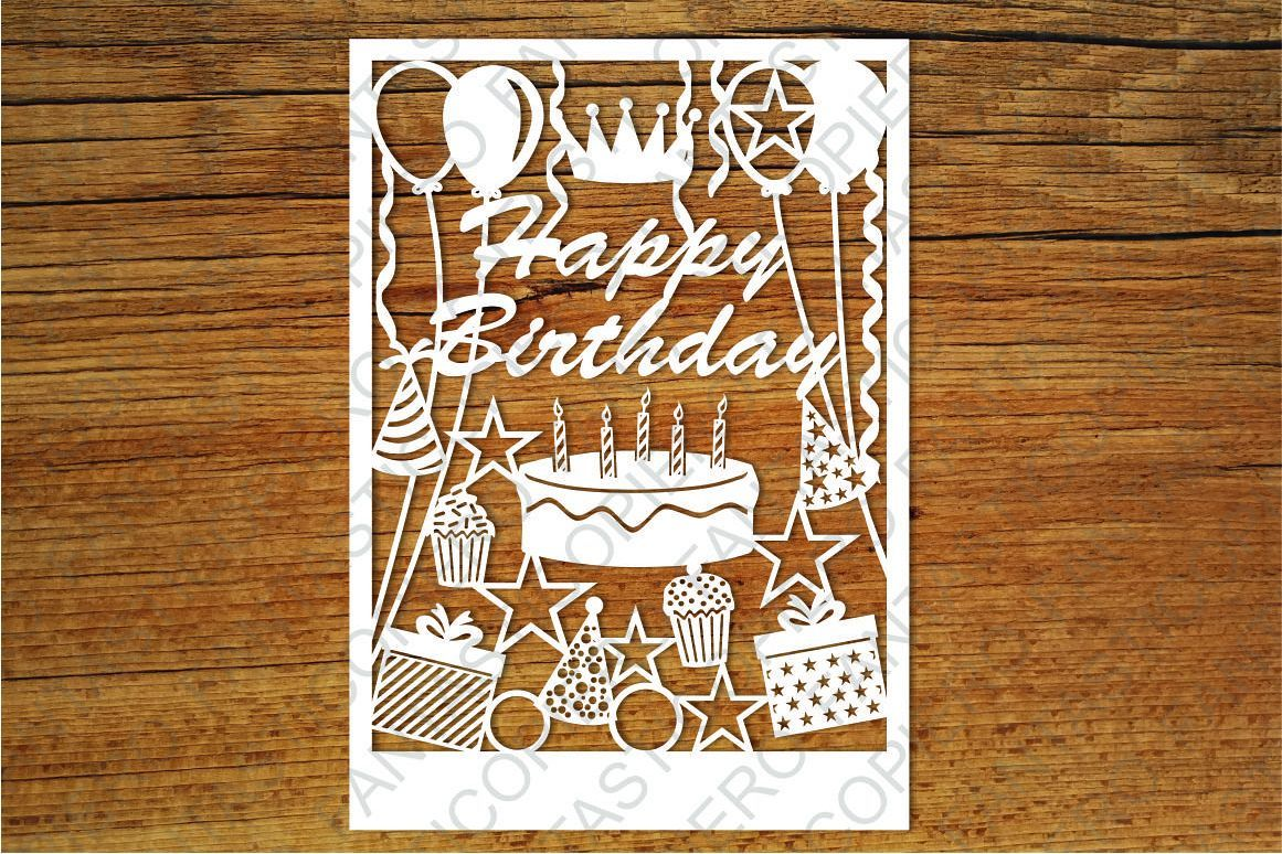 Happy Birthday Card Svg Files For Silhouette And Cricut Free
