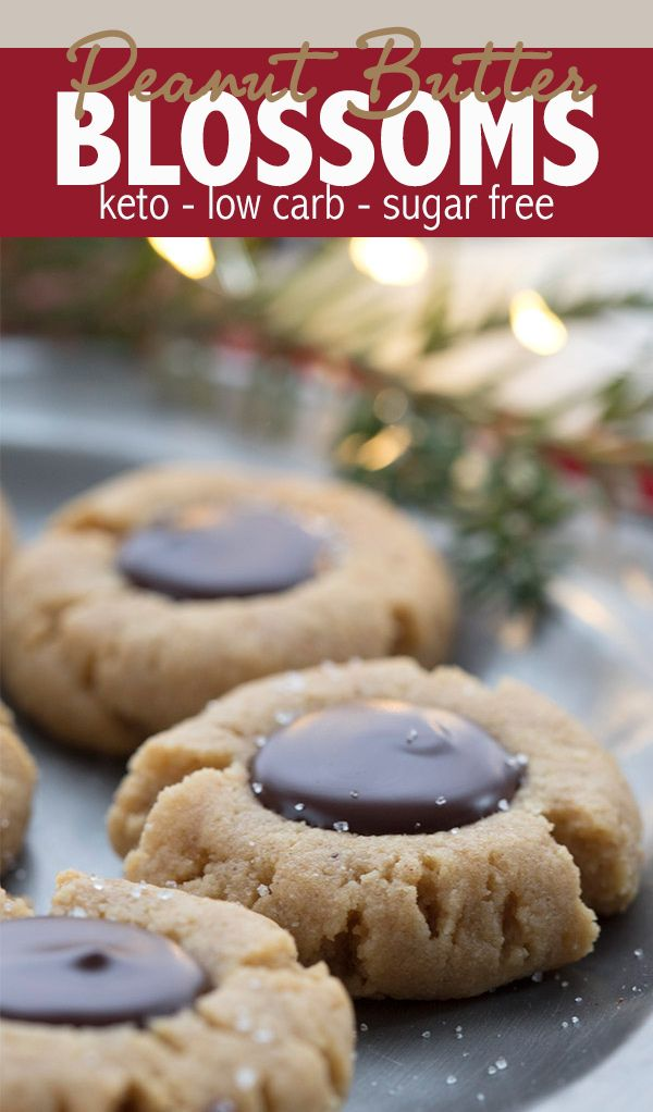 Peanut Blossoms - Low Carb and Gluten-Free #ketocookierecipes