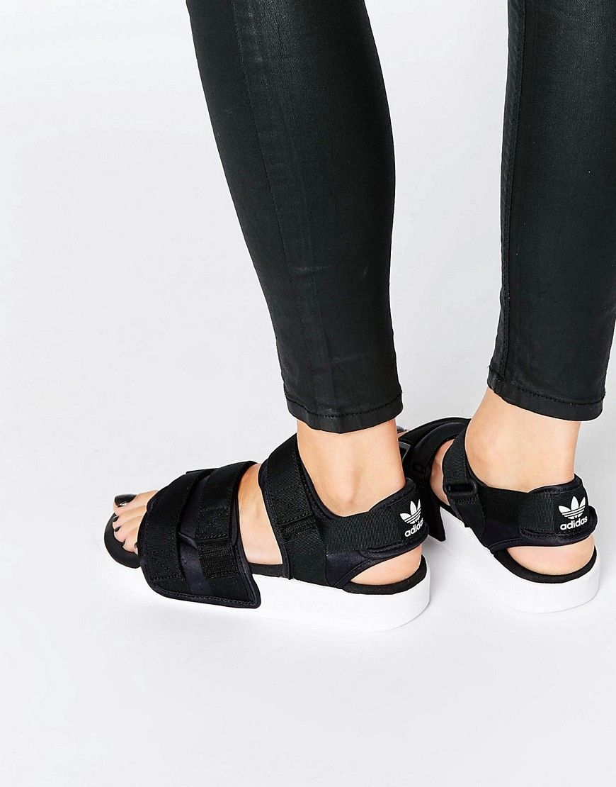 finest selection e73f7 5e70e ADIDAS ORIGINALS ADIDAS ORIGINALS ADILETTE CHUNKY STRAP SANDAL FLAT SANDALS  - BLACK.  adidasoriginals  shoes