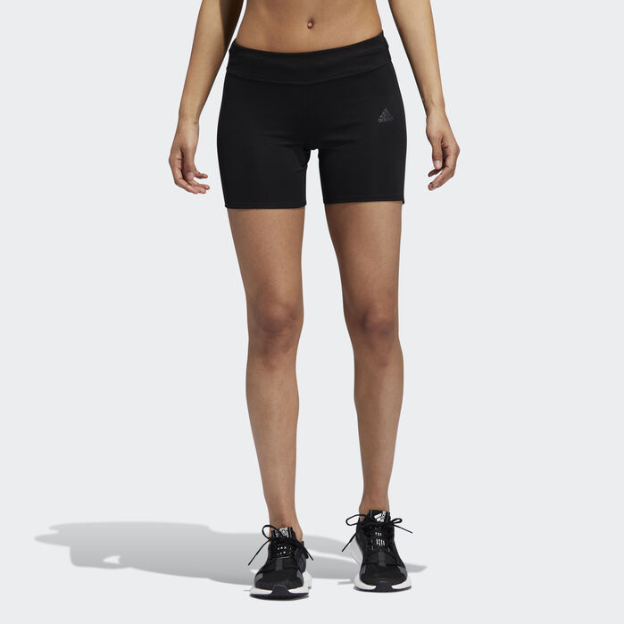 Own the Run Short Tights Black | Shorts with tights