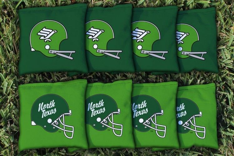 North Texas Mean Green College Vault All Weather Cornhole Replacement Bag Set