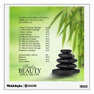 Stacked Stones Wall Decal For Spa Massage Salon by