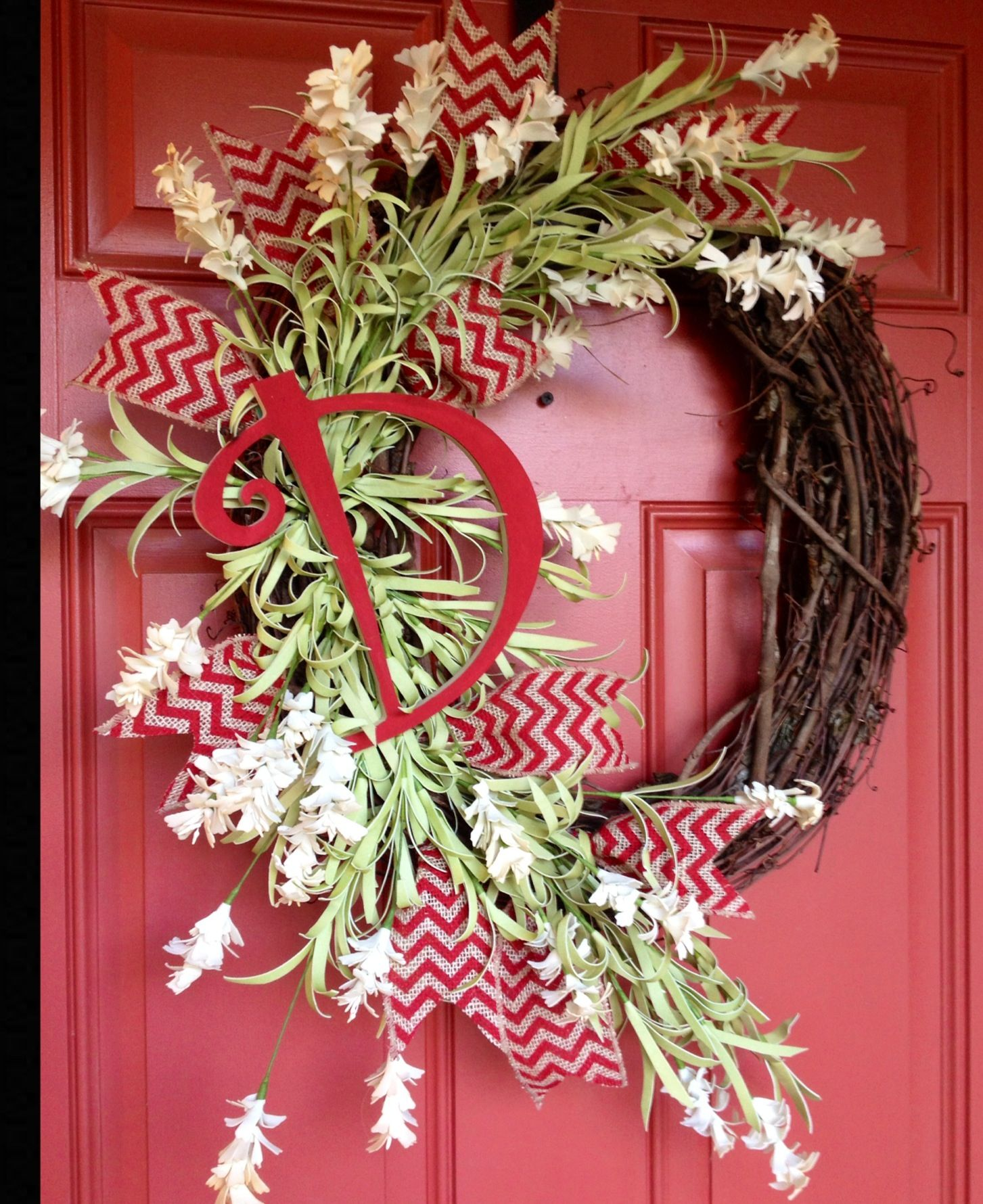 Initial wreath.....Designs by Karrie