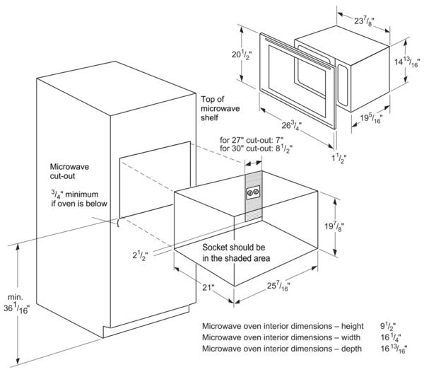 Image Result For Microwave Dimensions Thermador Microwave Dimensions Microwave