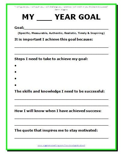11 Effective Goal Setting Templates for You Articles Goal
