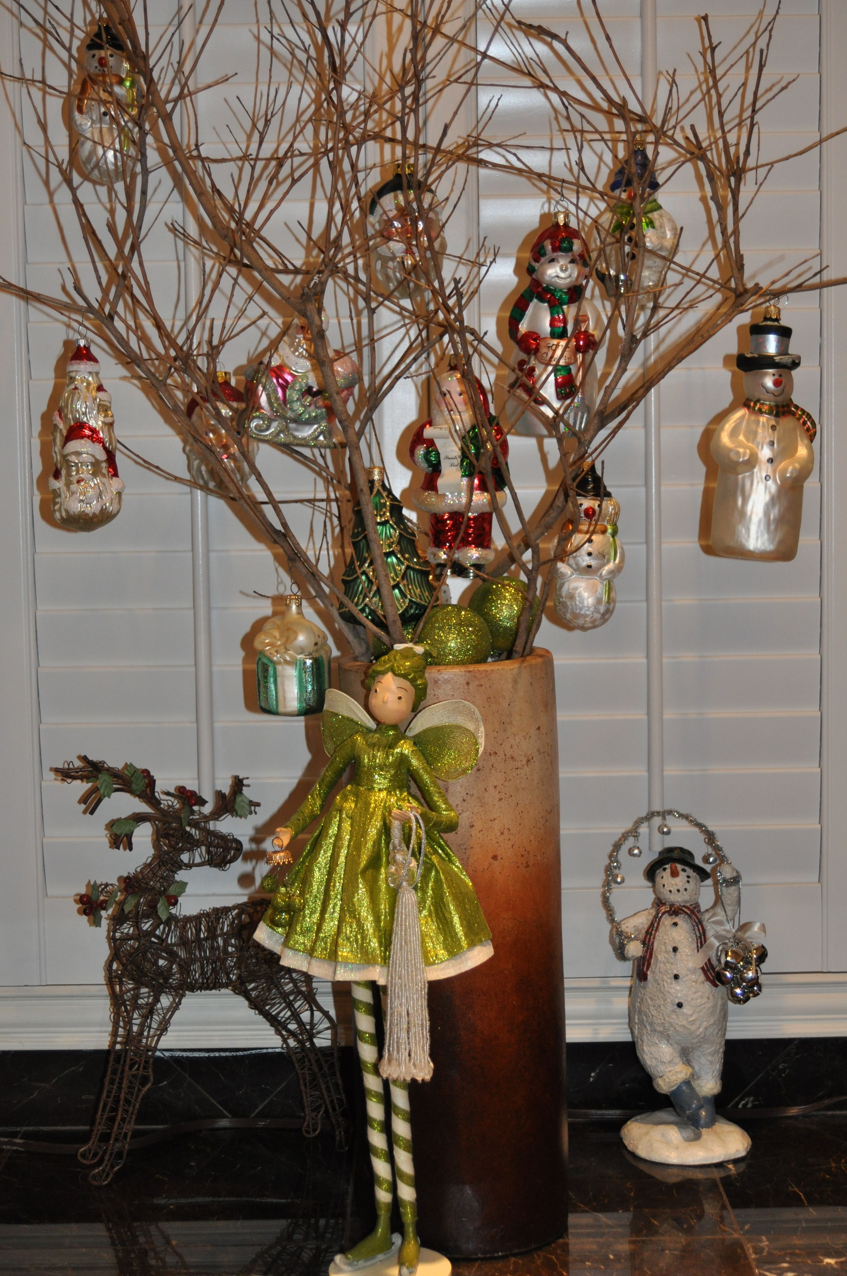 Tree Branches Trimmed Wfun Christmas Ornaments