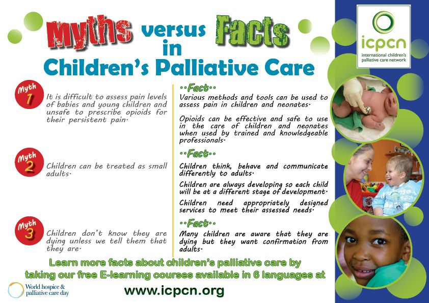 Myths and Facts Brochure Child life specialist