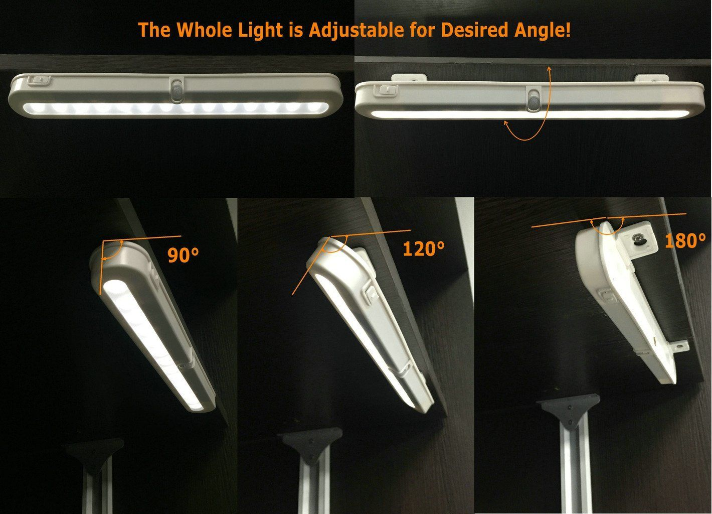closet lighting battery. Amazon.com: Battery Operated Motion Sensor Light - JEBSENS T01 LED Closet Light, Lighting E