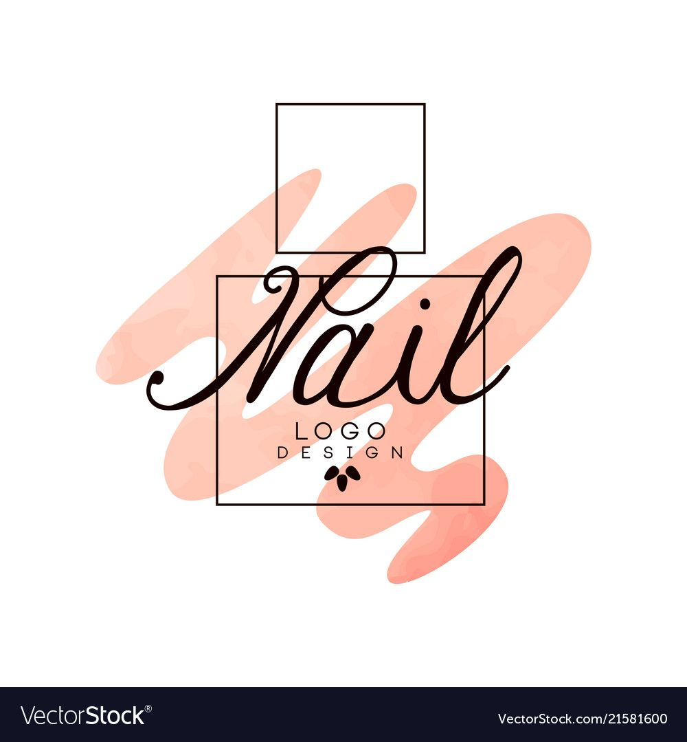 Nail logo, design element for nail bar, manicure studio