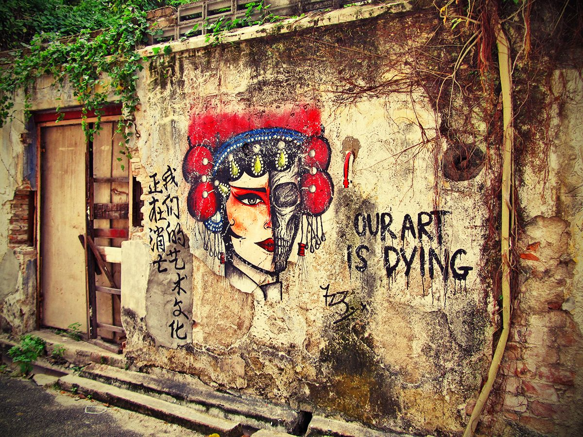 Penang Street Art (Dying Art Wall Painting) in 2018 | We Love Art ...