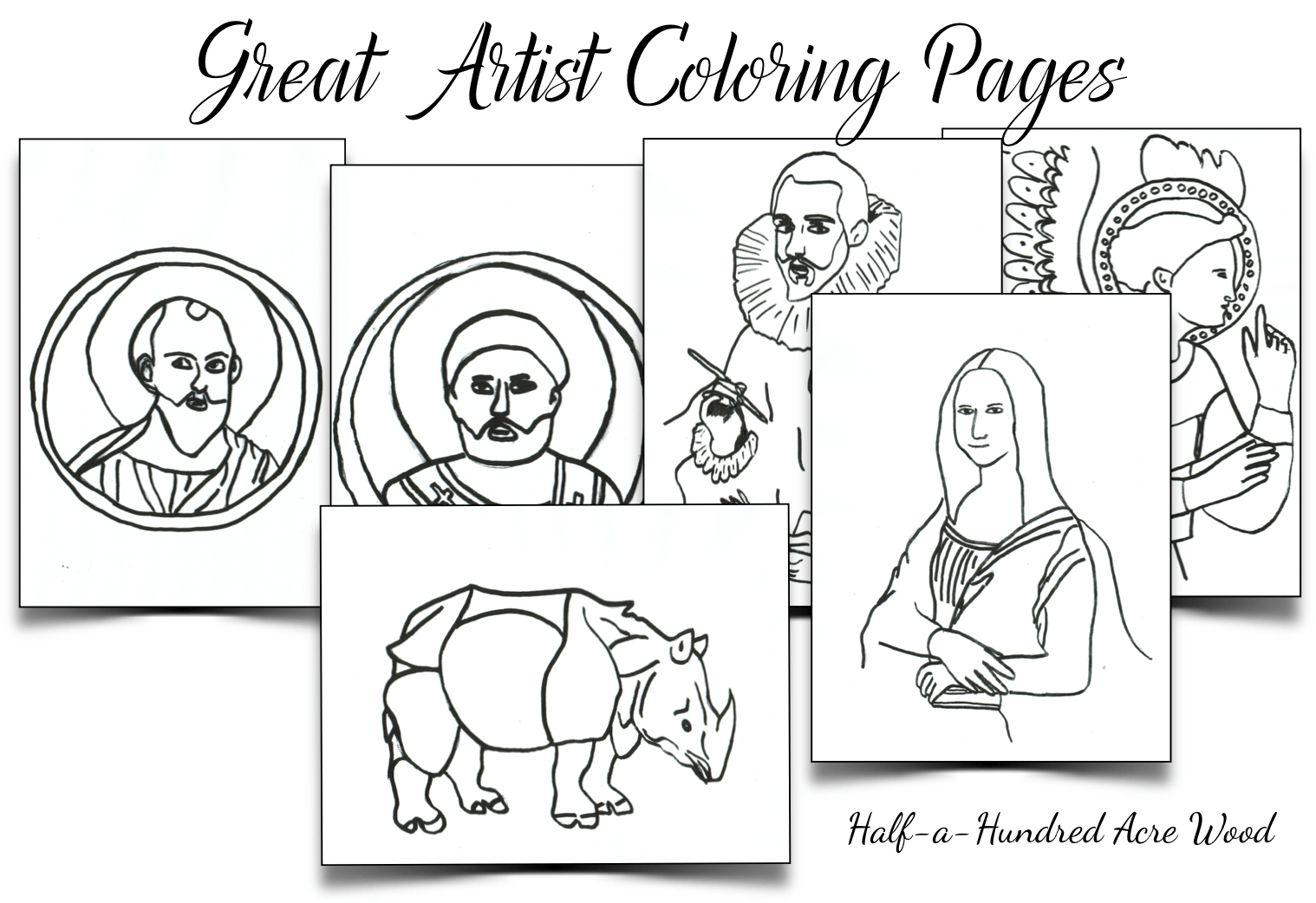 Great Artist Coloring Pages