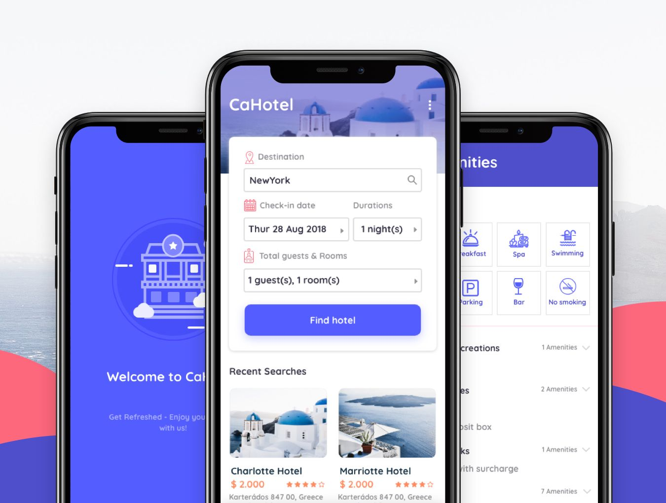 CaHotel UI Kit Booking Hotel UI Kit for Mobile App in Sketch
