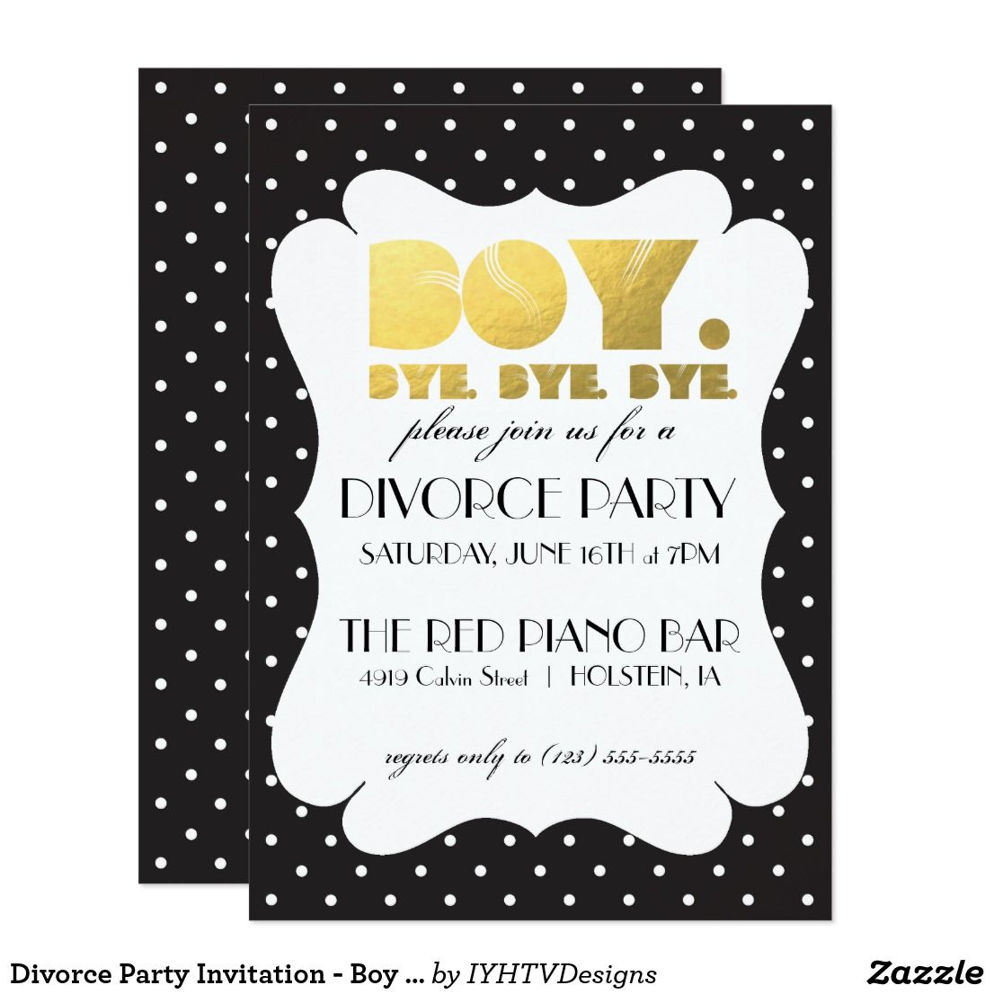 Divorce Party Invitation - Boy Bye | Divorce party and Party invitations