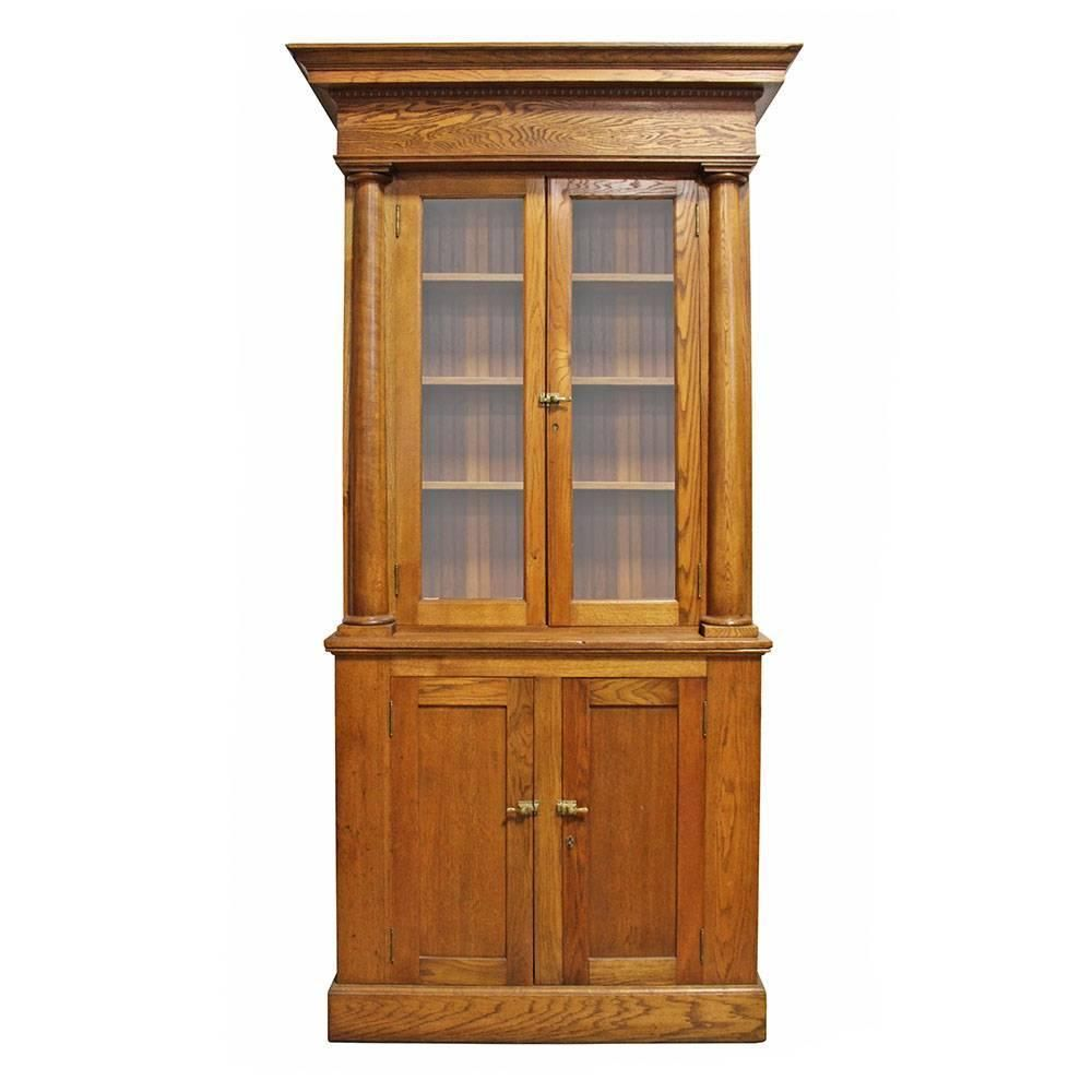 cupboard oak antique l victorian cabinet hall cupboards bathroom