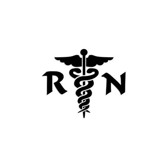 Registered Nurse Caduceus Symbol By Decalphanatics On Etsy Nursinf