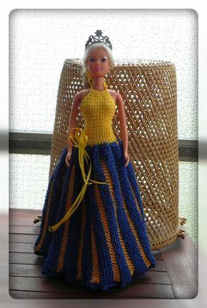 Barbie Neckholder-Kleid Strick- und Häkelanleitung | Barbie ...