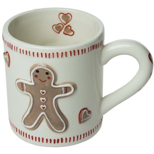 Gisela Graham Christmas Gingerbread Man (48 BRL) ❤ liked on Polyvore featuring home, home decor, holiday decorations, mug, christmas holiday decorations, christmas home decor and christmas holiday decor