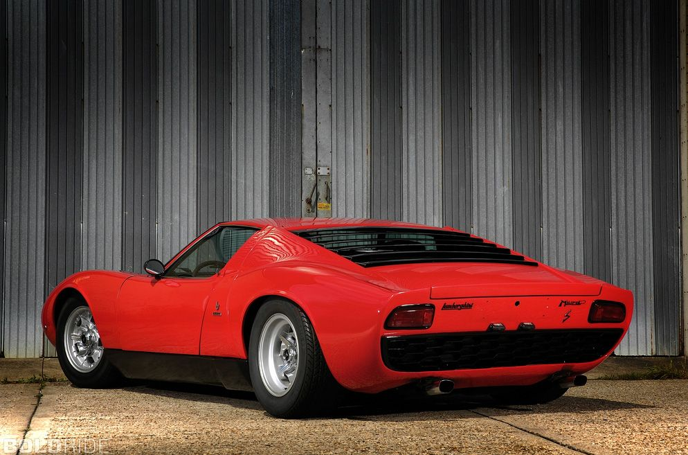 Lamborghini Miura S - Surely one of the most beautiful sports cars ever produced.