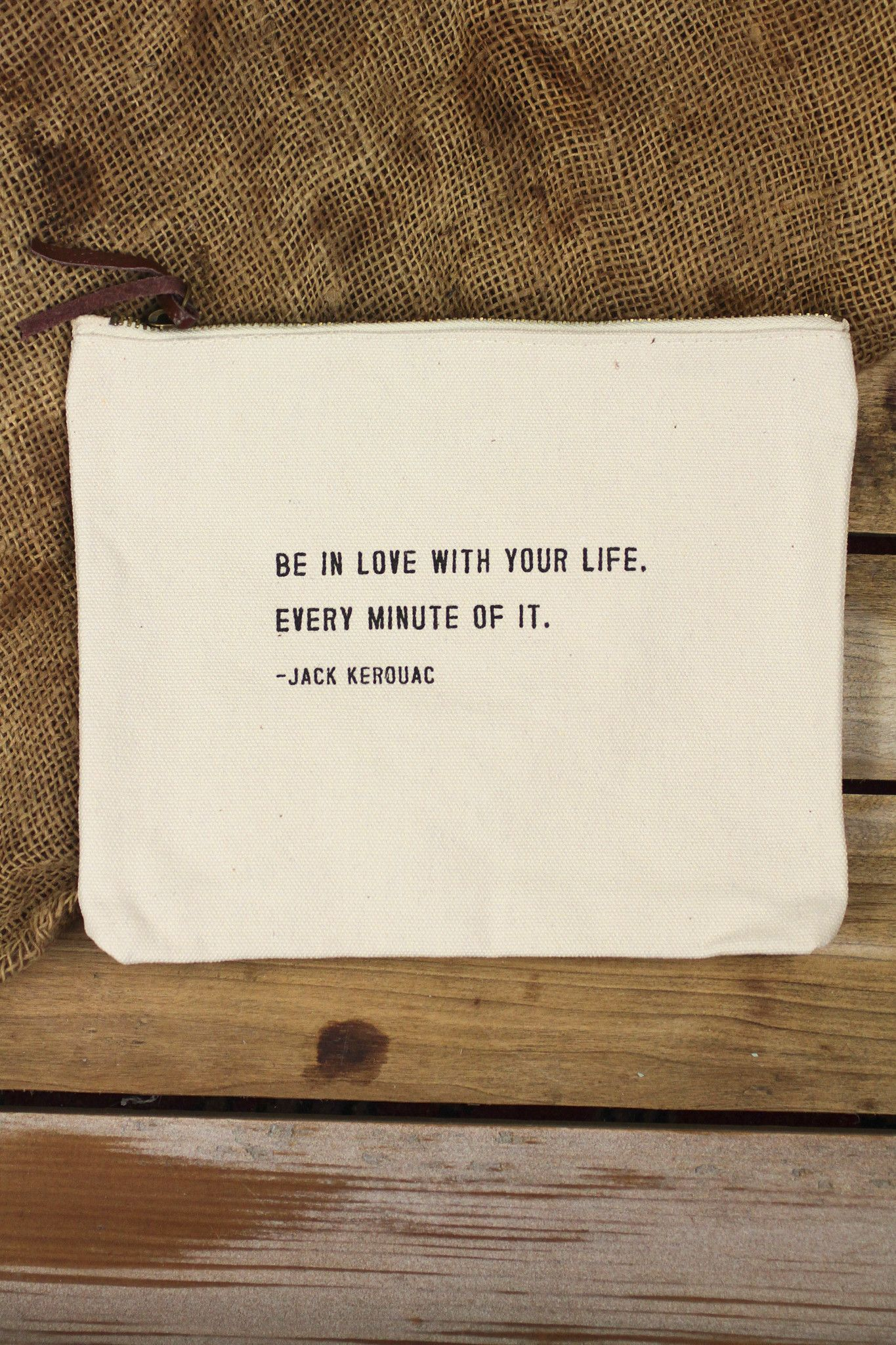 sugarboo designs u0027be in love with your lifeu0027 canvas pouch - Sugarboo