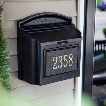 Whitehall Personalized Wall Mount Mailbox Wall Mount Mailbox Mounted Mailbox Mailbox On House