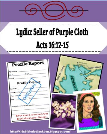 Bible Fun For Kids Lydia Seller Of Purple Cloth Bible border=