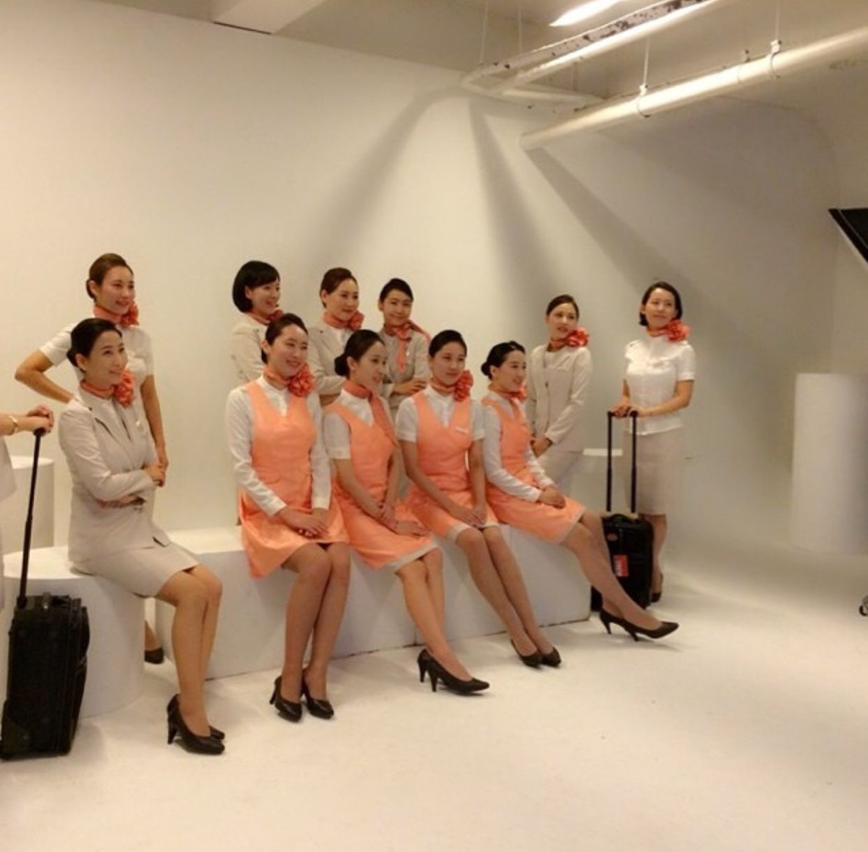 【South Korea】 JEJU Air cabin crew (old uniform) / チェジュ航空