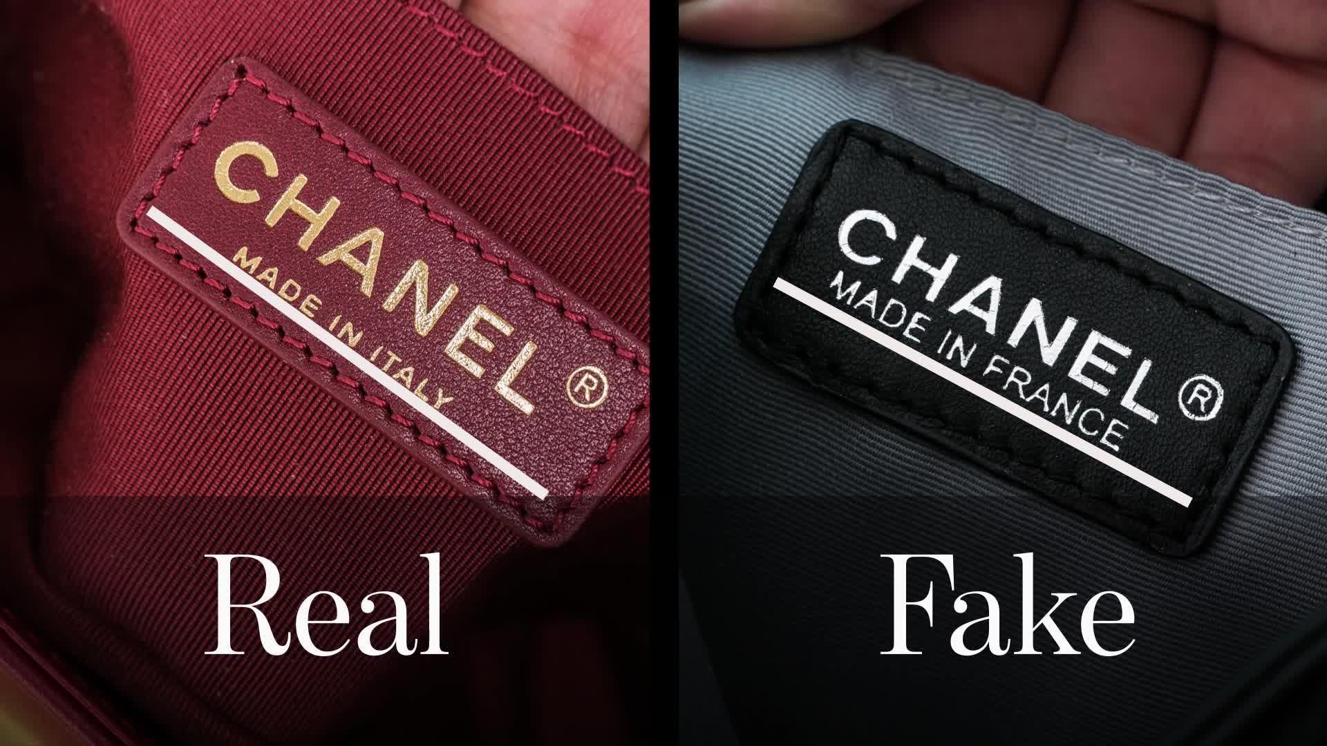 Real VS fake CHANEL logo. Real VS fake CHANEL logo. Fake Designer Bags ... 5d6c1476af1f3
