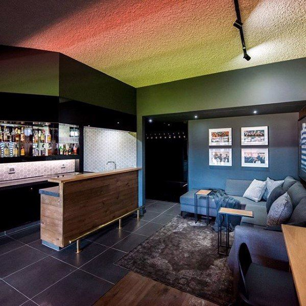 60 basement man cave design ideas for men manly home on incredible man cave basement decorating ideas id=62812