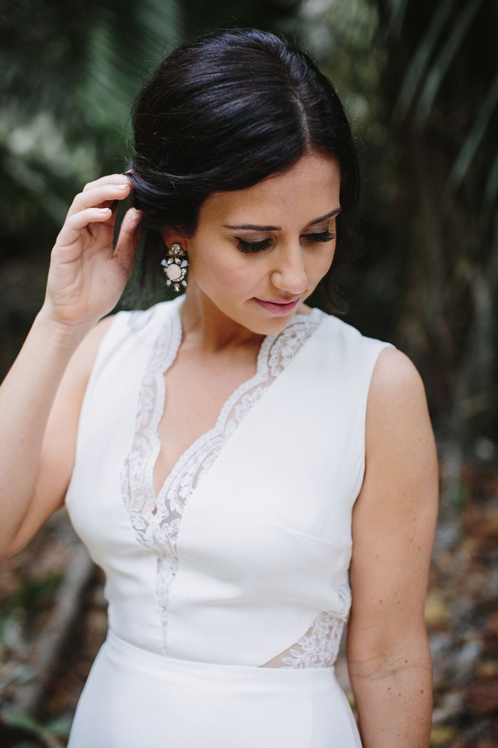 Love A gorgeous bride make up for he wedding in Mexico | fabmood.com #destinationwedding
