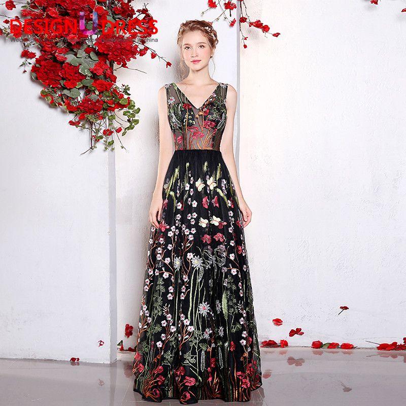 Вышивка бабочек на платье 518