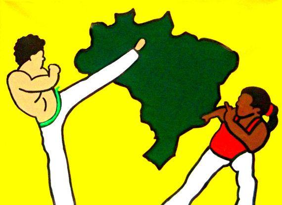 Capoeira Art Martial Arts Decor Brazilian Art Capoeira