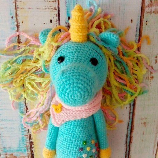 patrón de amigurumi libre unicornio tímida | amigurimi | Pinterest ...