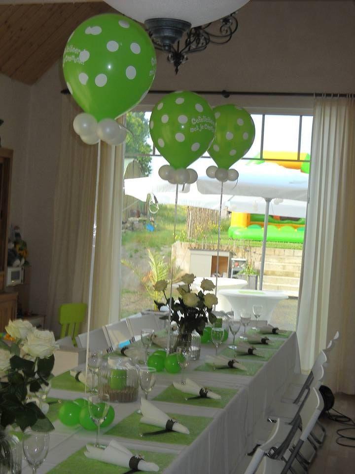 Communiefeest In Het Groen Glitter Feest Decoraties