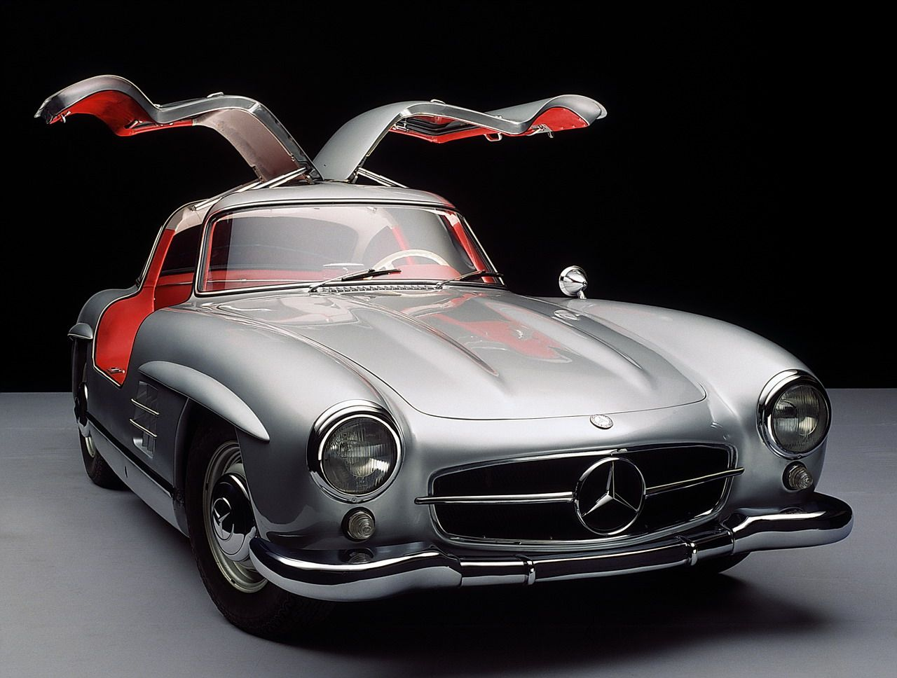 If I Could Have Any Car Silver On Red Leather Mercedes Benz