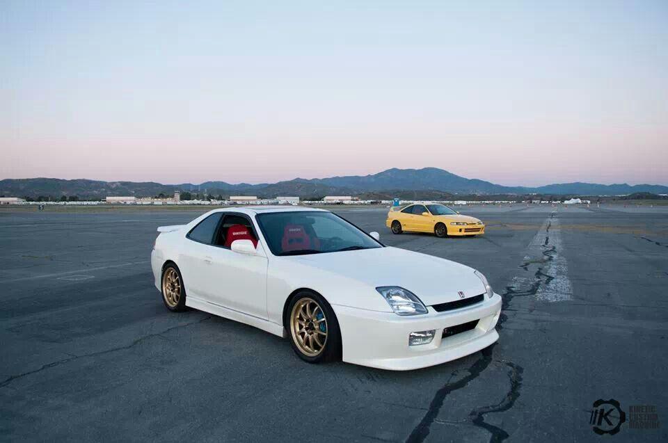 White Honda Prelude SH with gold wheels | mmm cars! | Pinterest ...
