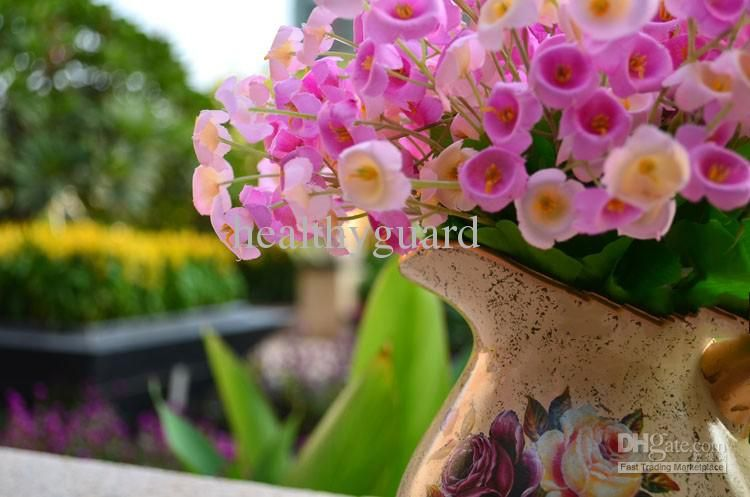 Wholesale Simulation silk Flower Artificial Abutilon flower home garden wedding Decoration, Free shipping, $1.31-2.48/Piece | DHgate