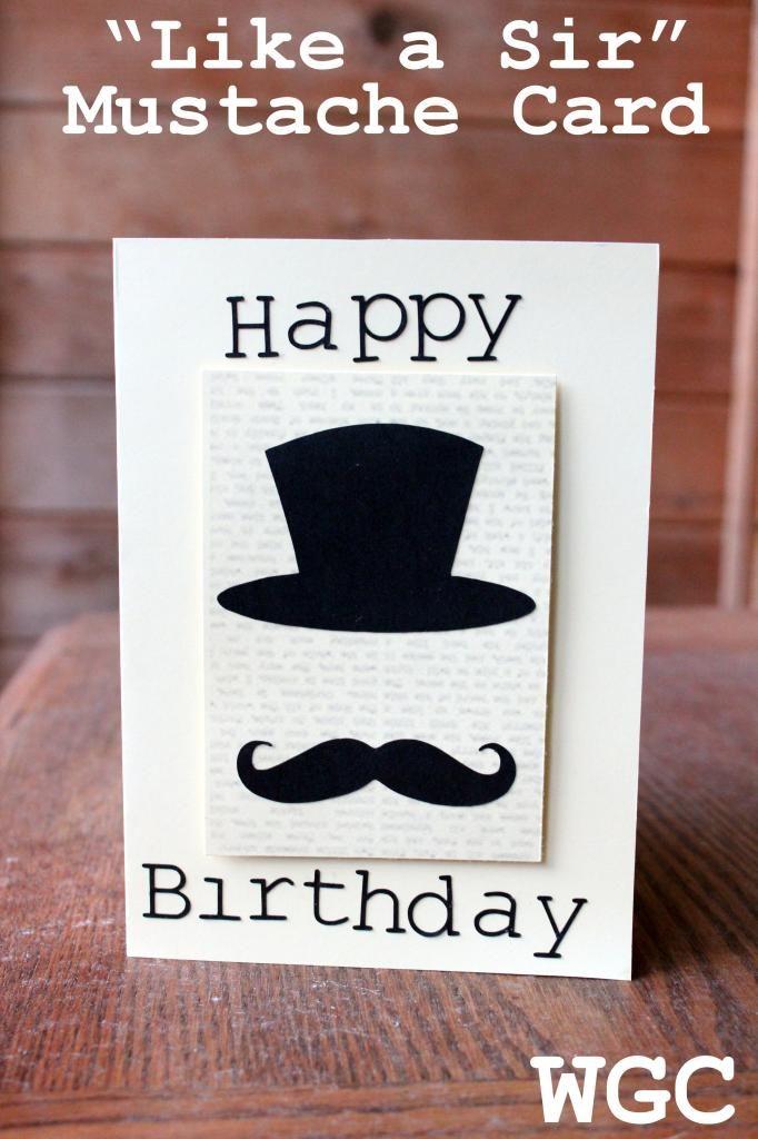 Like A Sir Mustache Birthday Card The Card Yard Pinterest