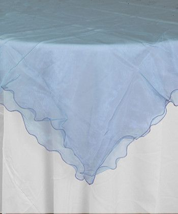 Blue Ruffled Organza Table Cover