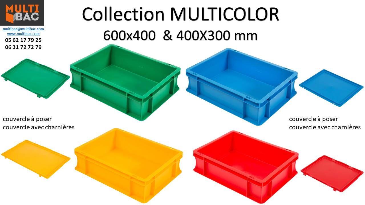Bac Plastique Normes Europe De Couleur Multibac Caisse Plastique
