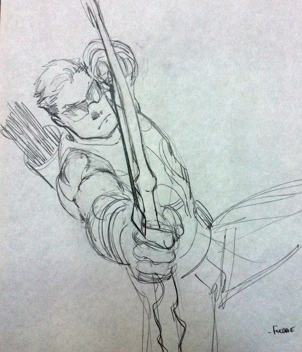 Hawkeye from Avengers movie - Freddie Williams II | Bocetos ...